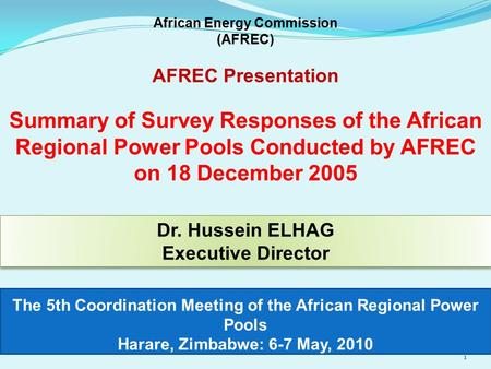 Eastern africa power pool eapp ppt download the 5th coordination meeting of the african regional power pools harare zimbabwe 6 sciox Images