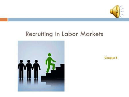Recruiting in Labor Markets Chapter 6 6–2 Strategic Recruiting Decisions Sample Sample Organization-Based vs. Outsourced Recruiting Recruiting Presence.