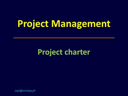 Project Management Project charter