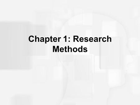 Chapter 1: Research Methods. Psychological Research Scientific Observation: A systematic empirical investigation that is structured to answer questions.