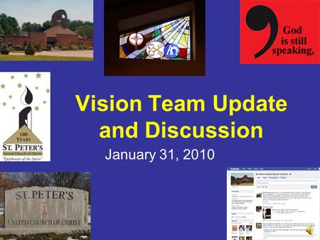 Vision Team Update and Discussion January 31, 2010.