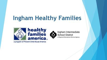 Ingham Healthy Families. History: Why Healthy Families America? Michigan Home Visiting Initiative Exploration & Planning Tool (Fall 2013)  Ingham County.