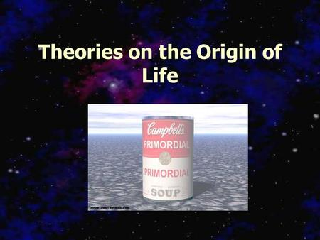 Theories on the Origin of Life. When did life form? Age of the Earth: 4.6 billion years Oldest rocks: 3.8 – 4.0 billion years Oceans established > 3.8.