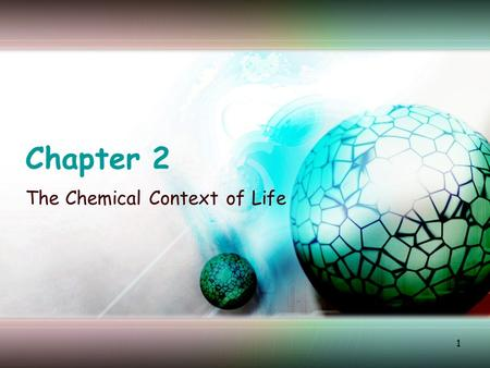 1 Chapter 2 The Chemical Context of Life. 2 Matter Takes up space and has mass Exists as elements (pure form) and in chemical combinations called compounds.