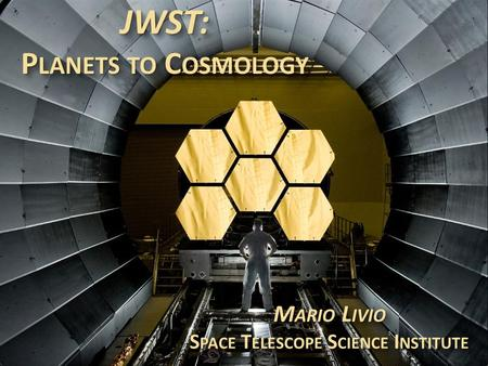 JWST: Planets to Cosmology