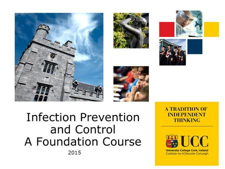 Infection Prevention and Control A Foundation Course 2015.