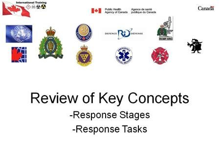 Response Stages Recognition Stage Response Stage Intervention Stage Recovery Stage.