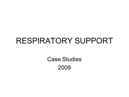 case study 21 copd with respiratory failure answers