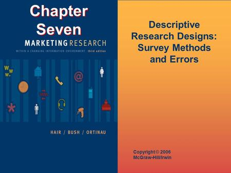 Chapter Seven Copyright © 2006 McGraw-Hill/Irwin Descriptive Research Designs: Survey Methods and Errors.