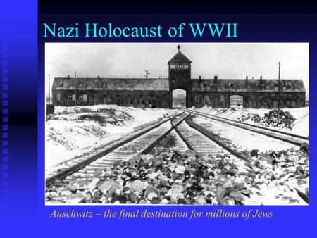 the death of millions of jews during wwii Two of the most important surveys of the jewish question in europe during world war ii are david irvings examination of the russian archives after the wall came down.