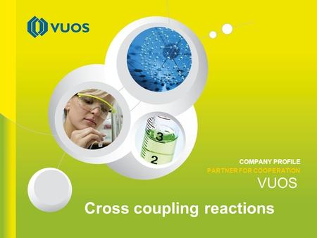 VUOS COMPANY PROFILE PARTNER FOR COOPERATION Cross coupling reactions.