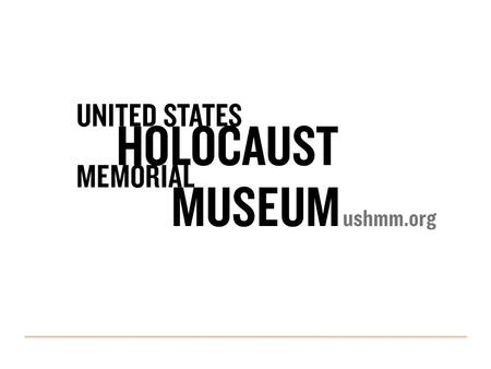 Catalog Refresh or: How I learned to stop worrying and love EMu Heather Curtis, Project Manager 2 UNITED STATES HOLOCAUST MEMORIAL MUSEUM.