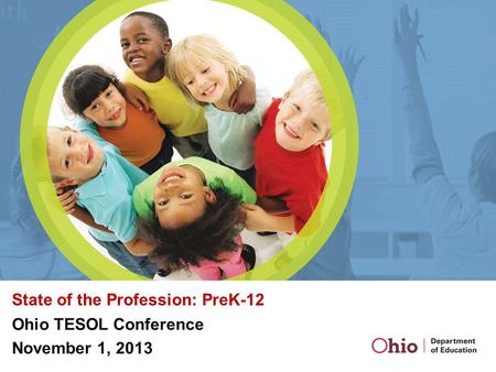 State of the Profession: PreK-12 Ohio TESOL Conference November 1, 2013.