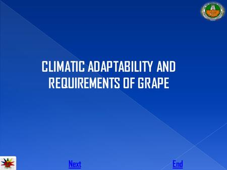 CLIMATIC ADAPTABILITY AND REQUIREMENTS OF GRAPE NextEnd.