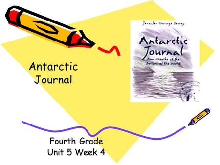 Fourth Grade Unit 5 Week 4 Antarctic Journal Words to Know anticipation continent convergence depart forbidding heaves icebergs.