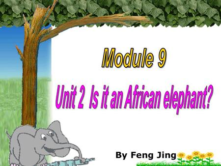 Unit 2 Is it an African elephant?