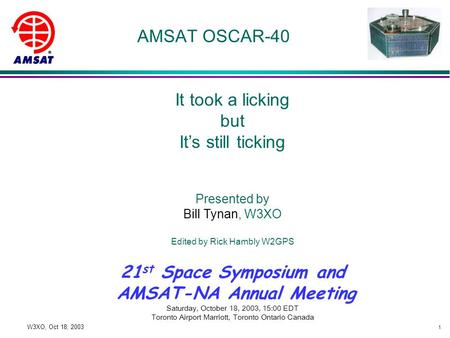 AMSAT-NA Annual Meeting