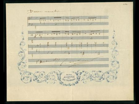 What information can you gain from studying this photograph of a composer's original manuscript?