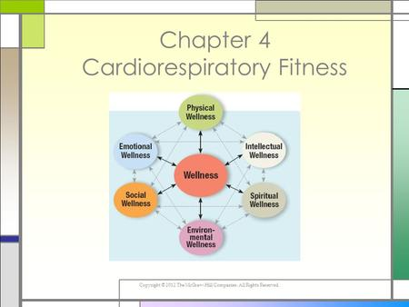 Copyright © 2012 The McGraw-Hill Companies. All Rights Reserved. Chapter 4 Cardiorespiratory Fitness.