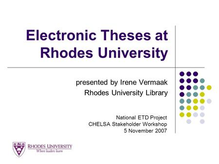 electronic thesis library