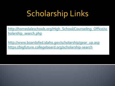 Scholarship Links  holarship_search.php