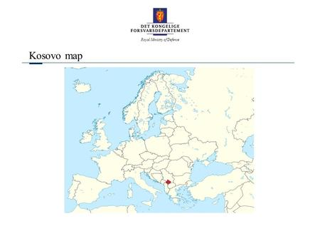 Royal Ministry of Defence Kosovo map. Royal Ministry of Defence Kosovo map.