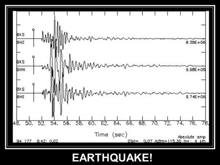 EARTHQUAKE!. Moles? Earthquake of October 15, 1979, El Centro, California. Magnitude 6.9.