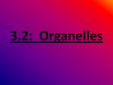 3.2: Organelles. What is an organelle? Organelles are structures specialized to perform distinct processes within a cell.