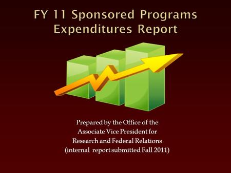 Prepared by the Office of the Associate Vice President for Research and Federal Relations (internal report submitted Fall 2011)