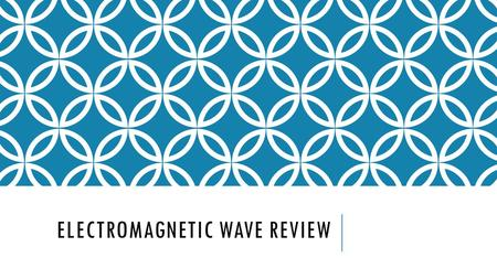 "ELECTROMAGNETIC WAVE REVIEW. WAVES PROPERTIES REVIEW Amplitude  ""…is the maximum distance that the particles of the medium carrying the wave move away."