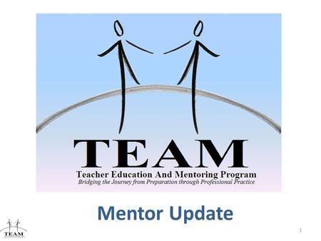 Mentor Update 1 Bridging the Journey from Preparation through Professional Practice.