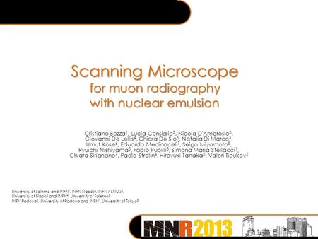 Scanning Microscope for muon radiography with nuclear emulsion