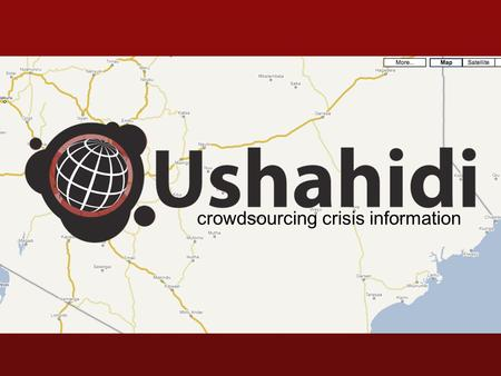 Crowdsourcing crisis information. mobile.crisis.reporting.