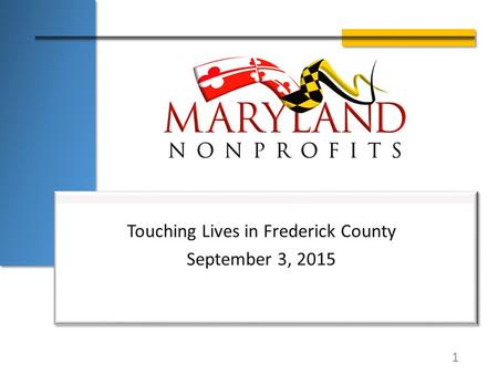 Touching Lives in Frederick County September 3, 2015 1.