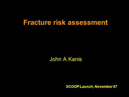 Fracture risk assessment