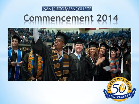 What students are saying: * Only 6% of students said they heard about commencement from their instructors.