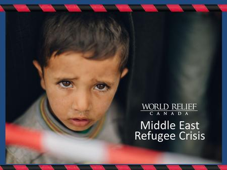 Middle East Refugee Crisis. STORIES THAT MUST BE HEARD.