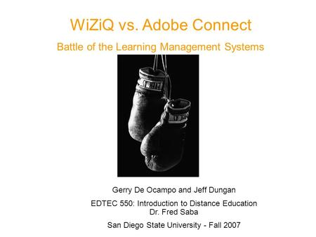 WiZiQ vs. Adobe Connect Battle of the Learning Management Systems