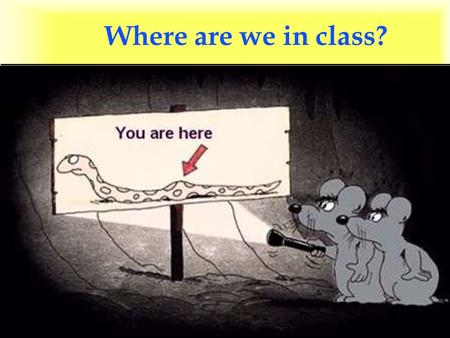 Where are we in class?. Supplies needed: non-food l Nonelectric clocks l Cleaning supplies l Bleach l Fire extinguishers l First aid kits l Backup generators.