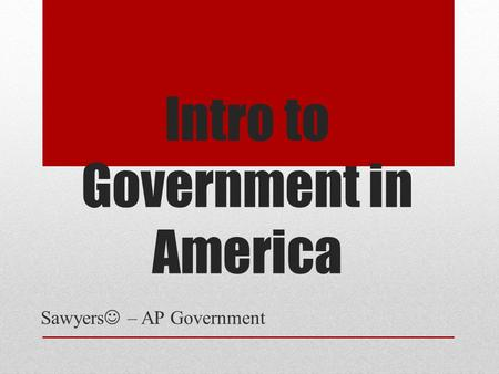 ap gov importance of order Ap government review you've made it through your ap us government course and are one of the most important things you can do to help yourself on the.