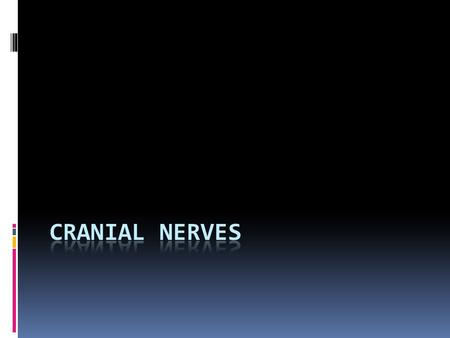 ORIGIN OF CRANIAL NERVE FIBERS  Cranial nerve fibers with motor (efferent) functions arise from collections of cells (motor nuclei) that lie deep within.