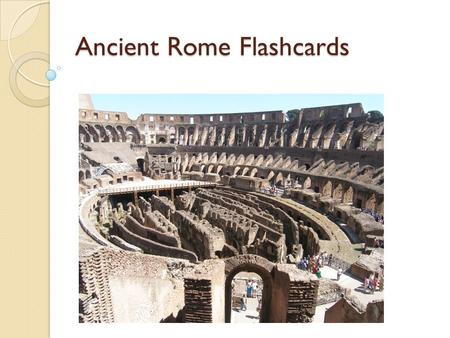 Ancient Rome Flashcards. Why were the plains of Italy important? The plains provided rich fertile farmland.