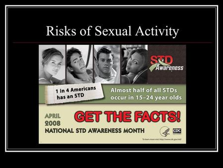 Risks of Sexual Activity