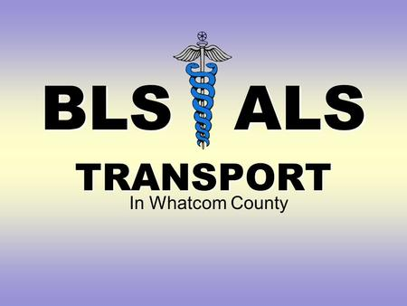 BLS ALS TRANSPORT In Whatcom County. Do you need help? 78 y.o. female, GLF, hip pain Patient is lying on her side on the bathroom floor. Gasping Pale.