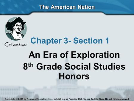 8th Grade Social Studies Honors
