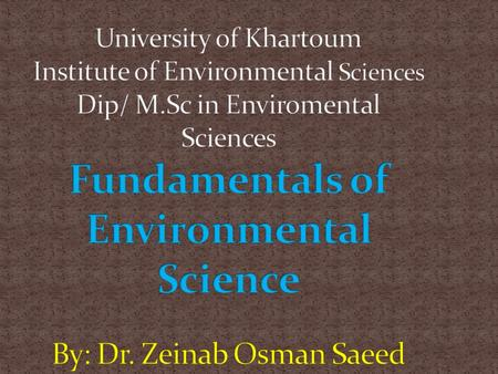 Lecture nu 9 Presented by: Dr. Zainab O.Saeed The way in which an individual perceives the environment; the process of evaluating and storing information.