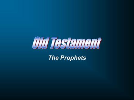 The Prophets. Short on Words, Long on Truth Hosea God's Covenant Marriage.