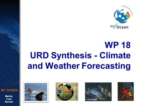 Marine Core Service MY OCEAN WP 18 URD Synthesis - Climate and Weather Forecasting.