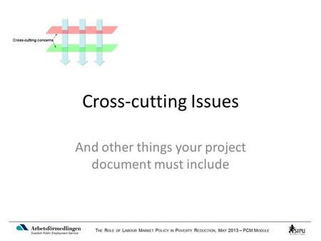 Cross-cutting Issues And other things your project document must include.