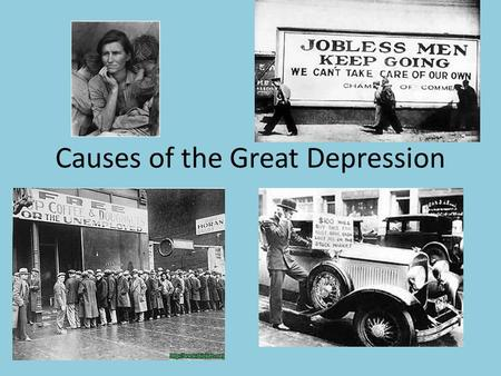 a overview of prosperity of the 1920s and the cause of great depression That has come to symbolize the unparalleled prosperity of the 1920s prosperity and depression 1 overview of the economic prosperity of.